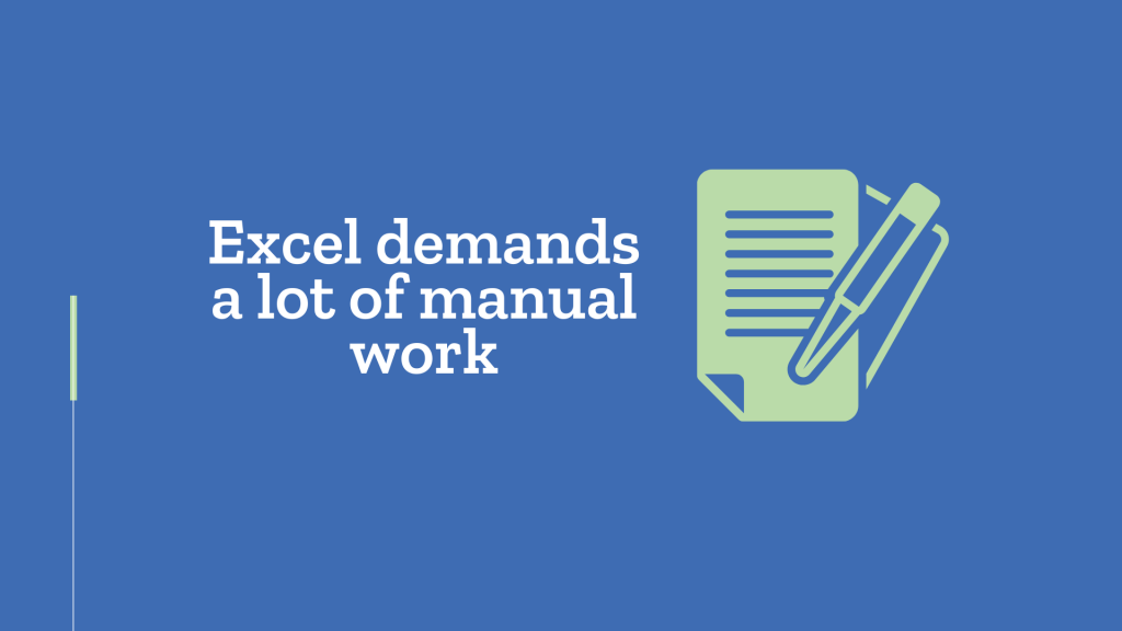 Grantmaking software: Excel demands a lot of manual work